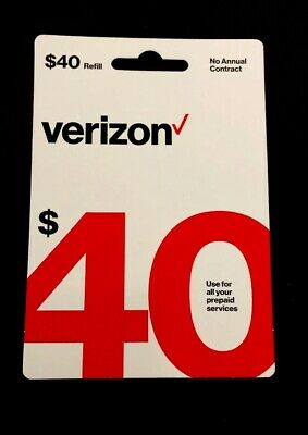 $40 Prepaid Verizon Refill Cards Total Of $40 Refill / EBAY CODE DELIVERY