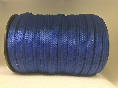 12mm Blue Spun Polyester Webbing