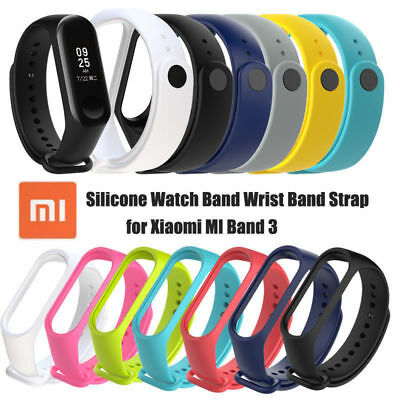 Silicone Wrist Strap WristBand Bracelet Replacement Band for XIAOMI MI Band 3 hy