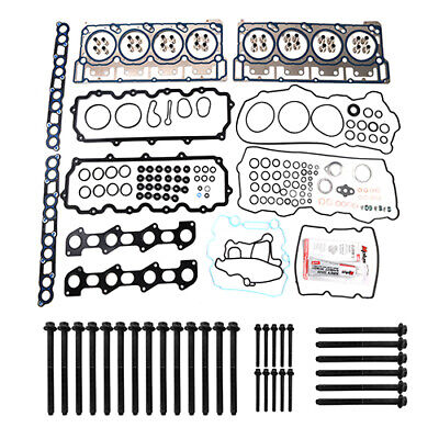 For 03-10 Ford 6.0L V8 E350 F250 F350 DIESEL TURBO Head Gasket Set + Head Bolts