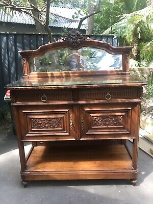 Sideboard/cabinet, Carved Oak Antique