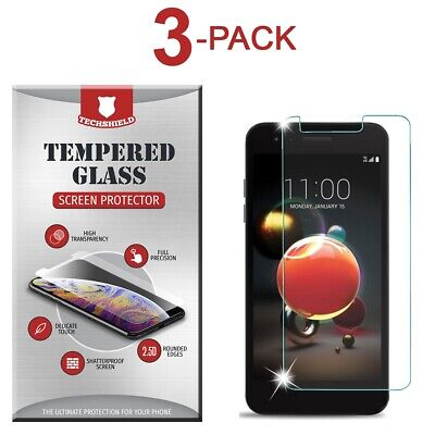 (3-Pack) Tempered Glass Film Screen Protector For LG Phoenix 4