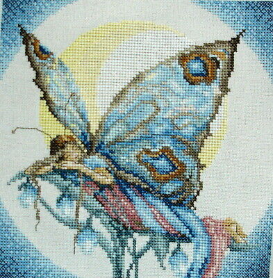 Lanarte Completed Counted Cross Stitch Unframed Picture Night