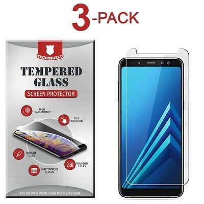 (3-Pack) Tempered Glass Film Screen Protector For Samsung Galaxy A7 2018