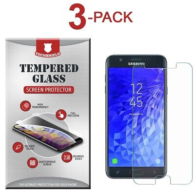 (3-Pack) Tempered Glass Film Screen Protector For Samsung Galaxy J3 Eclipse 2