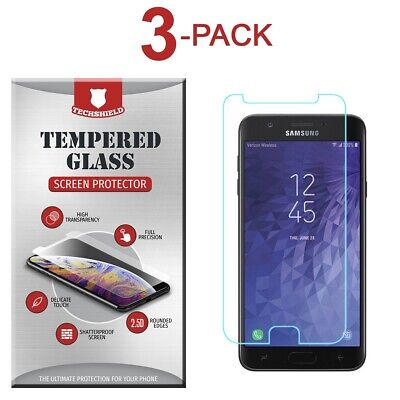 (3-Pack) Tempered Glass Film Screen Protector For Samsung Galaxy J7 Refine