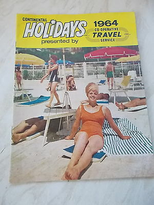 The 1964 Continental Holidays Presented by Co-Operative Travel Service Brochure