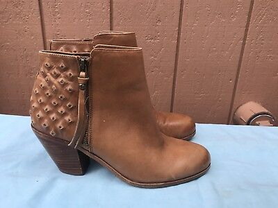 688e8edb5 SAM EDELMAN Lucille Brown Leather Zip Up Ankle Boots Women Size US 10M EUR  42 A6