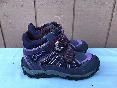 77c3e30a7d New Geox Gore Tex Waterproof Us 3.5 Eur 35 Winter Ankle Purple Boots Girls  A2