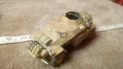 German Sd Kfz 222 (Missing Parts/ Incomplete) 1/35 Built / Made Spares Or Repair