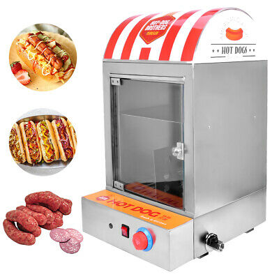 Professional Hot Dog Steamer Machine Sausage Warmer Hot Dog Bun Warmer 220V