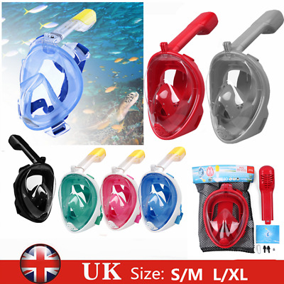 Anti-Fog Full Face Snorkel Scuba Diving Mask Surface Swimming Tool For GoPro UK