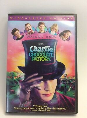 Charlie and the Chocolate Factory : DVD 2005 : Widescreen : Tim Burton : J. Depp