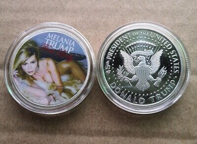 American First Lady Melania Trump Silver Commemorative Coin US Half Dollar
