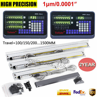 "0.0001"" Digital Readout 2Axis / 3Axis DRO TTL Linear Glass Scale,High Precision"