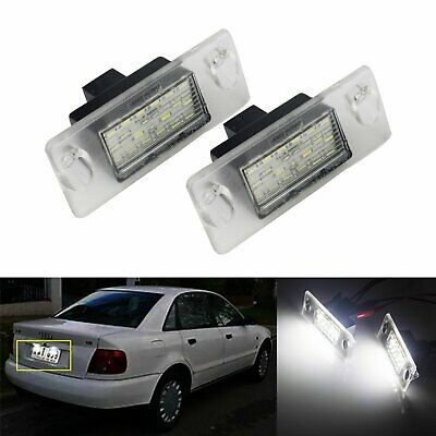 2x LED License Number Plate Light Lamps Canbus For Audi A4 B5 1995-2001 White UK