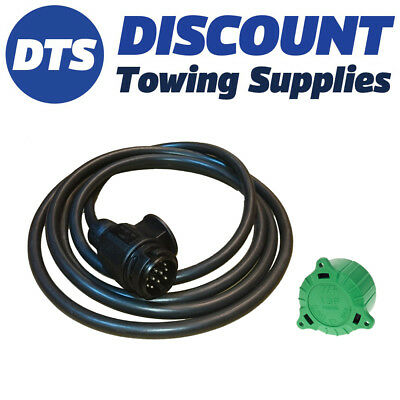 13 Pin Plug Pre-Wired W/3M 13Core Cable for Caravans/ Trailers & Re-Align Tool