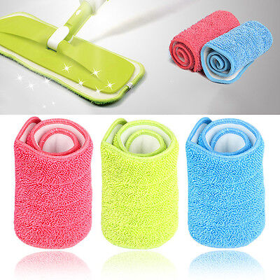 Replacement Microfiber mop Washable Mop head Mop Pads Fit Flat Spray Mops_TI