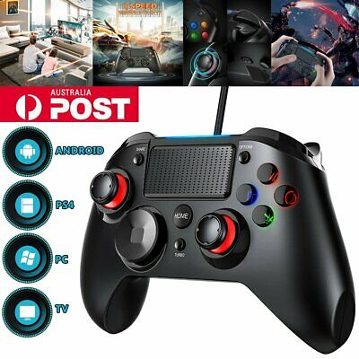 3 in 1 Wired LED Gaming Controller Vibration Turbo For PS3 PS4 TV Box Android AU