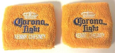 Corona Light Kenny Chesney Wristbands Cerveza Embroidered ~ Two (2) ~ NEW & F/S
