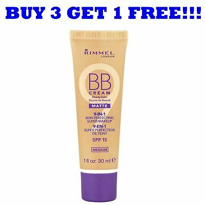 Rimmel BB Cream 9In1 Skin Perfecting Matte Medium 30ml (Matte Matte Matte)