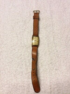 Vintage Mens Art Deco Ribaux 17 Jewel 10K Gold Filled Swiss Wristwatch Watch
