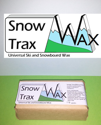 Ski and Snowboard Wax. Snow Trax Wax. Universal wax,115 gram block. Hot melt wax
