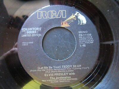 45 RPM Record  ELVIS PRESLEY  Teddy Bear  Loving You  MINT Collectors Series