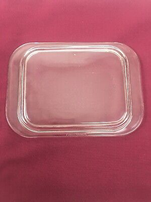 """Pyrex 603-c  Refrigerator Replacement Lid 35 Clear Rectangle Glass 7"""" X 5 1/2"""""""