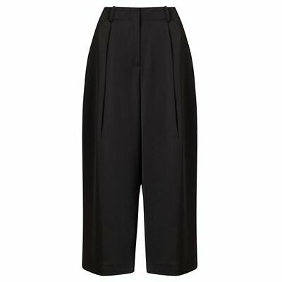 JOHN LEWIS - BNWT - Black Satin Back Wide Leg Tailored Trousers - Size 8 or 14