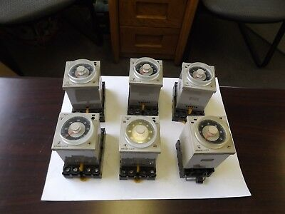 Wholesale Liquidation Omron Timers With Base Lot Of 6 See Details