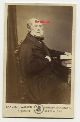 George William Frederick Villiers (1800 - 1870) 4th Earl of Clarendon c1870 CDV