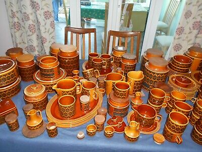 Vintage Hornsea brown Heirloom-plates, bowls, cups, condiments, storage-select