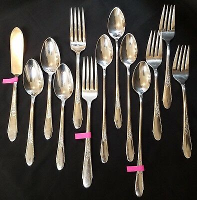 Wm Rogers and Son GARDENIA Silverplate 1941 Choose Your Flatware By The Piece
