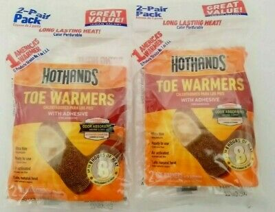 HotHands Toe / Foot Warmers 2-Pair Pack, x2 exp 6/22