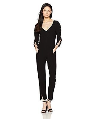 Black Halo Women's Black Rizzo Jumpsuit 4 NWT
