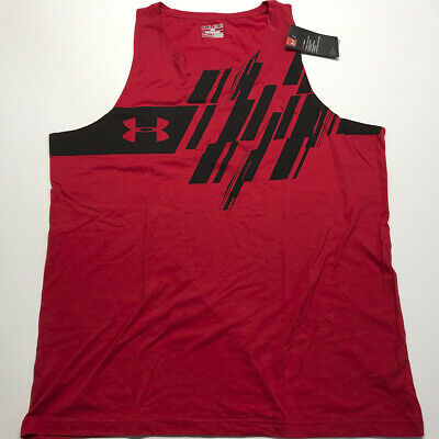 022225ea60f8e7 UNDER ARMOUR HEATGEAR Sleeveless Blue Loose Shirt Men s Size L Large ...