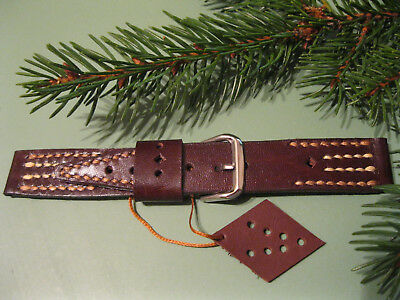 Leather Watch Strap Handmade, 20mm, 22mm Brown