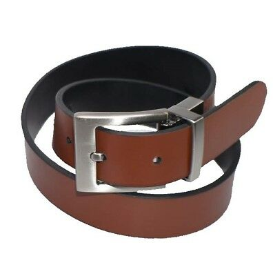 Boy's Genuine Leather Reversible Belt w/Polished Nickel Buckle-1 Belt 2 Styles!!