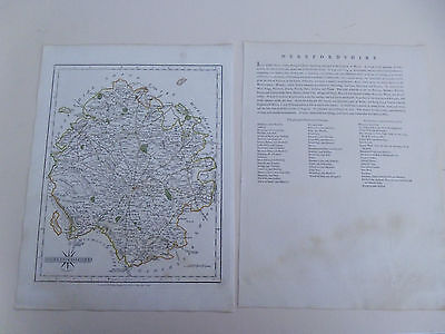 100% Original Herefordshire Map By  John Cary C1793 Vgc Free Postage