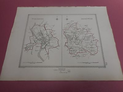 100% Original Worcester Droitwich   Plan Map By Creighton C1842 Vgc