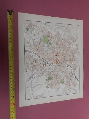 100% Original Leeds Map By Mackenzie/Weller  C1890 Vgc Railways