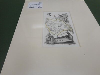 100% Original Yorkshire  Map By Perrot C1823 Scarce