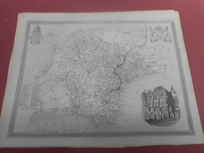 100% Original Devonshire Map By Moule C1848 Vgc  Railways