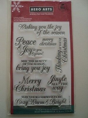 Hero Arts Clear Stamps Set Wishing You The Joy Of The Season Cl722 Bnip *Look*
