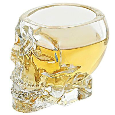 Crystal Skull Head Cup Transparent Shot Glass For Whiskey Wine Home Drinking