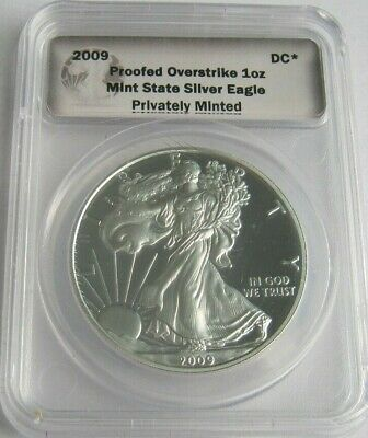 2009 DANIEL CARR Proof Overstrike AMERICAN SILVER EAGLE ~Total Mintage 800 Only~
