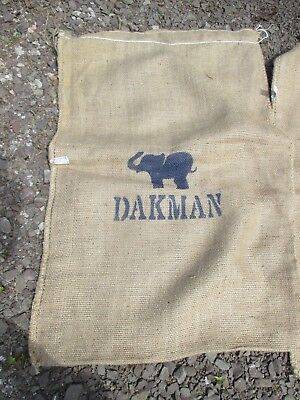 5 x ELEPHANT Coffee Sacks - JUTE HESSIAN BURLAP ARTS CRAFTS upholstery
