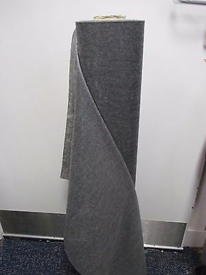 1m x 90cm Embroidery Backing Stabiliser. Iron On Fusible Light Weight Grey Black