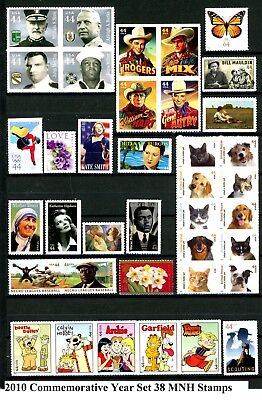 2010 Commemorative Year Set 38 Different MNH US Stamps See Scott #'s in Listing